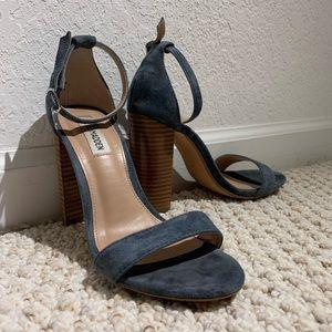 Steve Madden Suede Ankle Strap Heels- Size 7.5